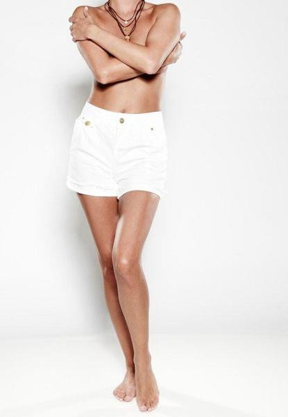POLLY – Turn-up Shorts - Crisp White