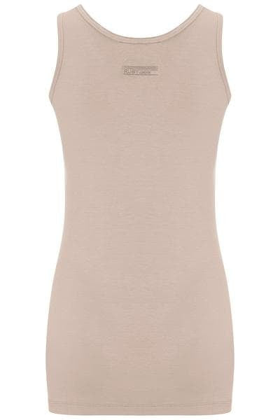 Bamboo Round Neck Long Body Tank - Vintage Rose