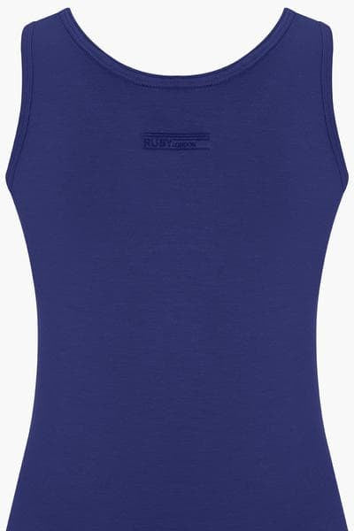 Bamboo Round Neck Long Body Tank - Royal Blue