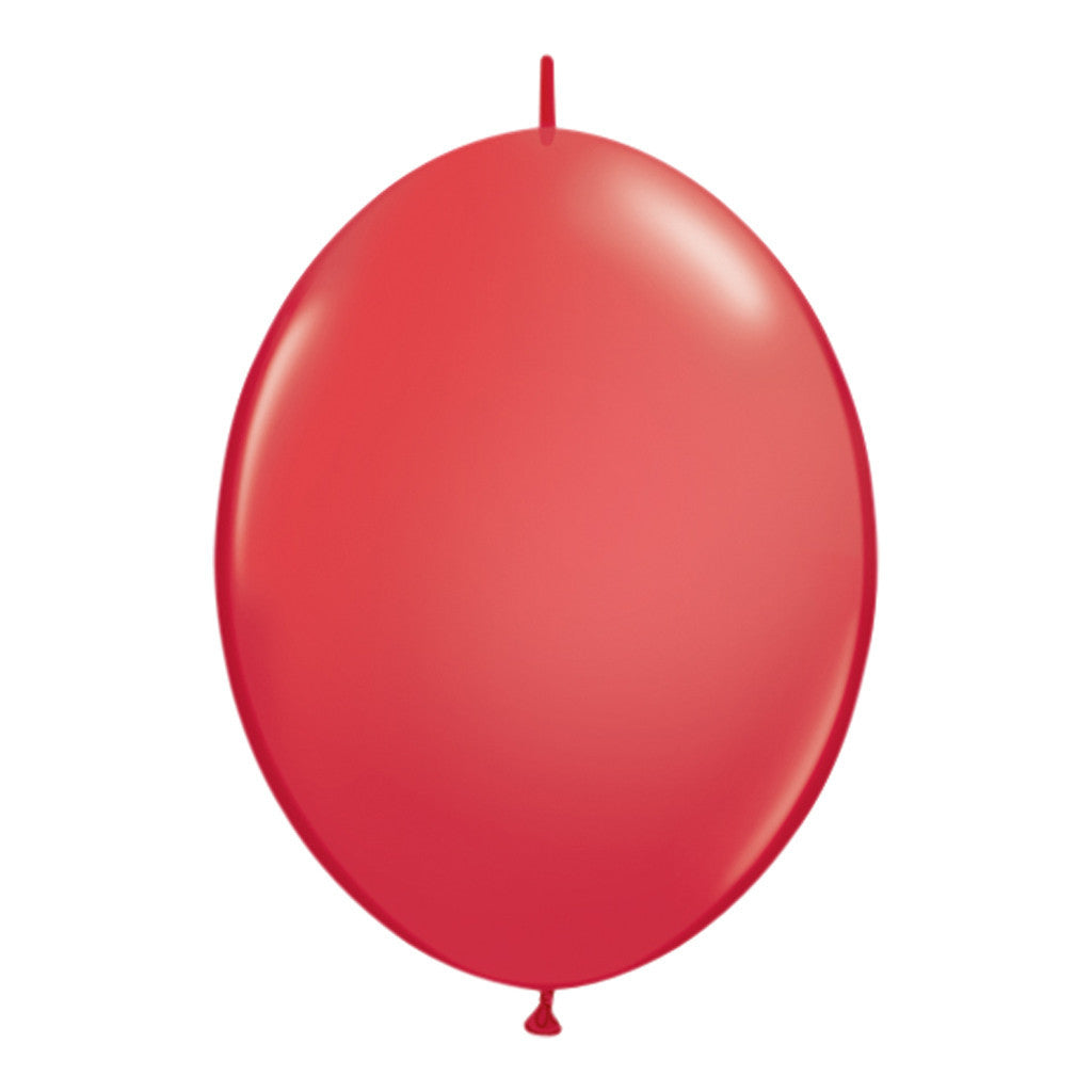 Red Link-O-Loon Latex Balloons 30cm