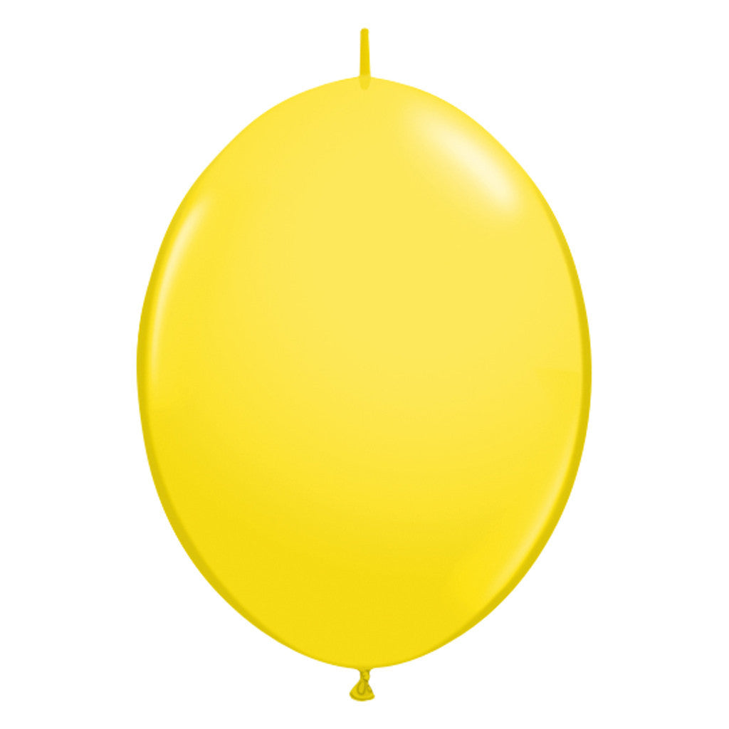 Yellow Link-O-Loon Latex Balloon 30cm