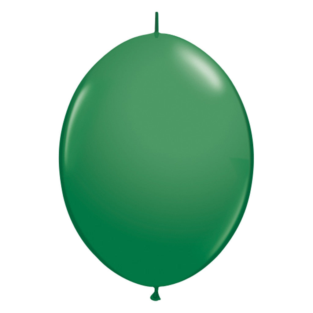 Green Link-O-Loon Latex Balloon 30cm