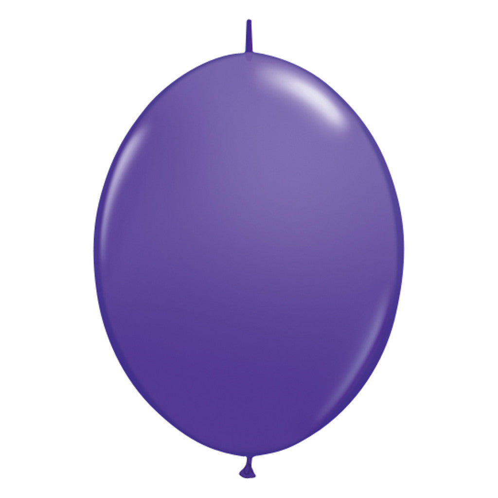 Purple Link-O-Loon Latex Balloon 30cm