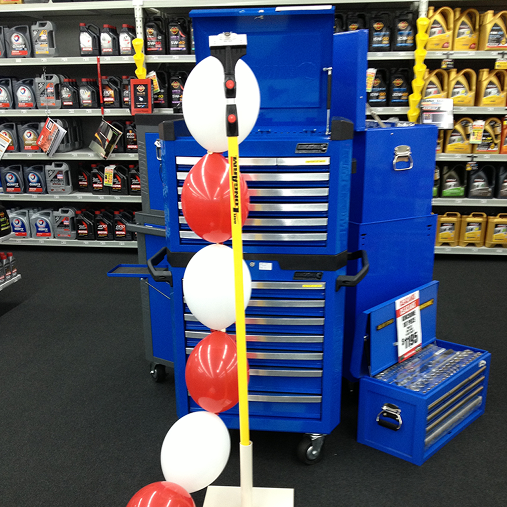 Picture of the Single Thingo, Telescopic Pole, Quicklink Balloons in Autobarn store