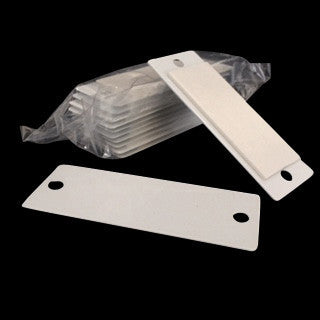 White rectangle metal plates with adhesive