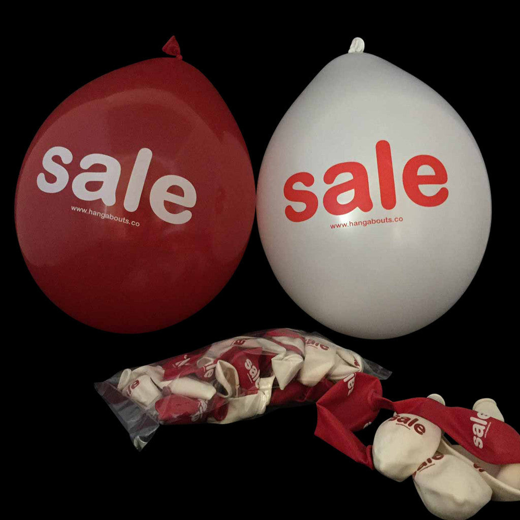 white & Red Latex Sale Balloons