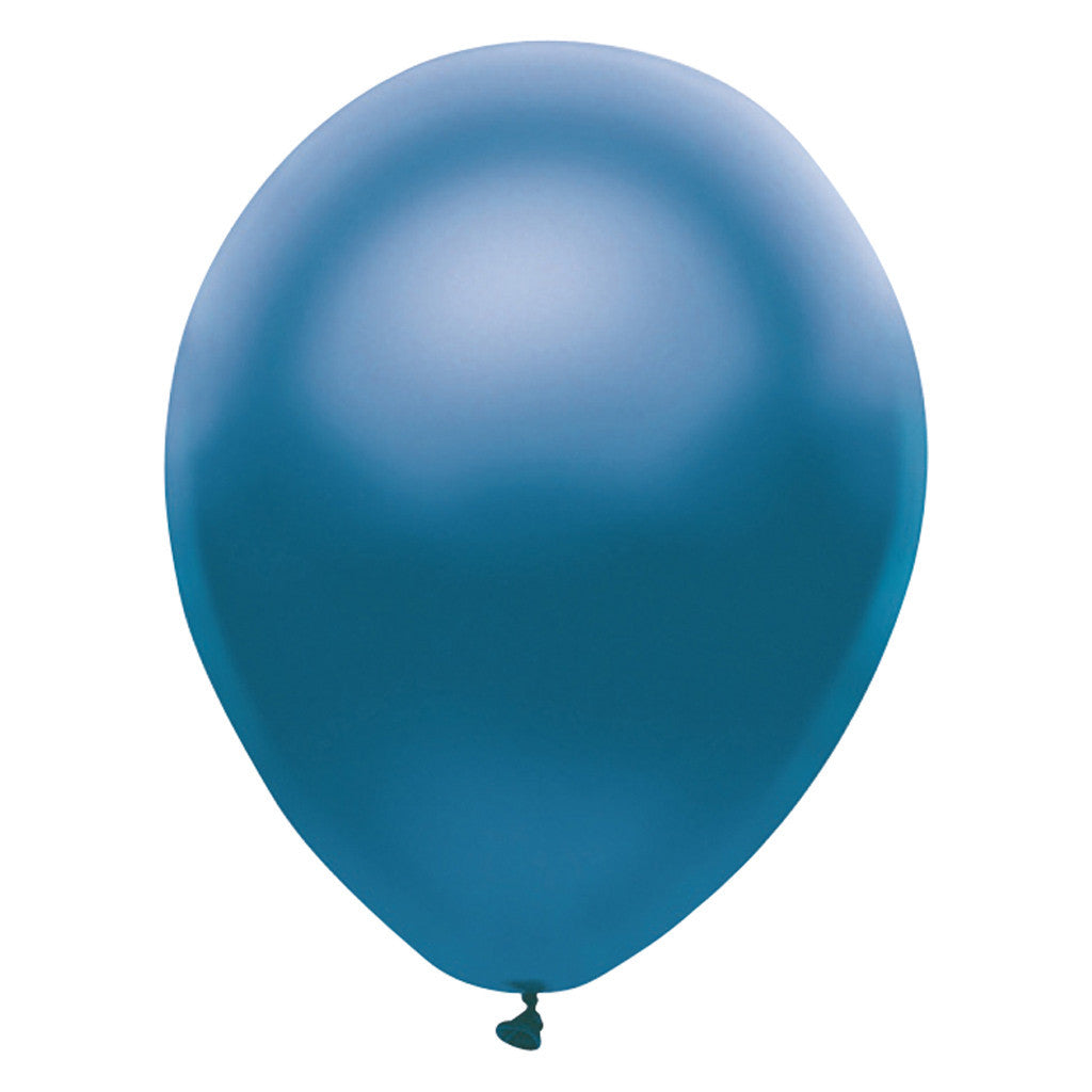 Perl Blue Latex Balloons 30cm