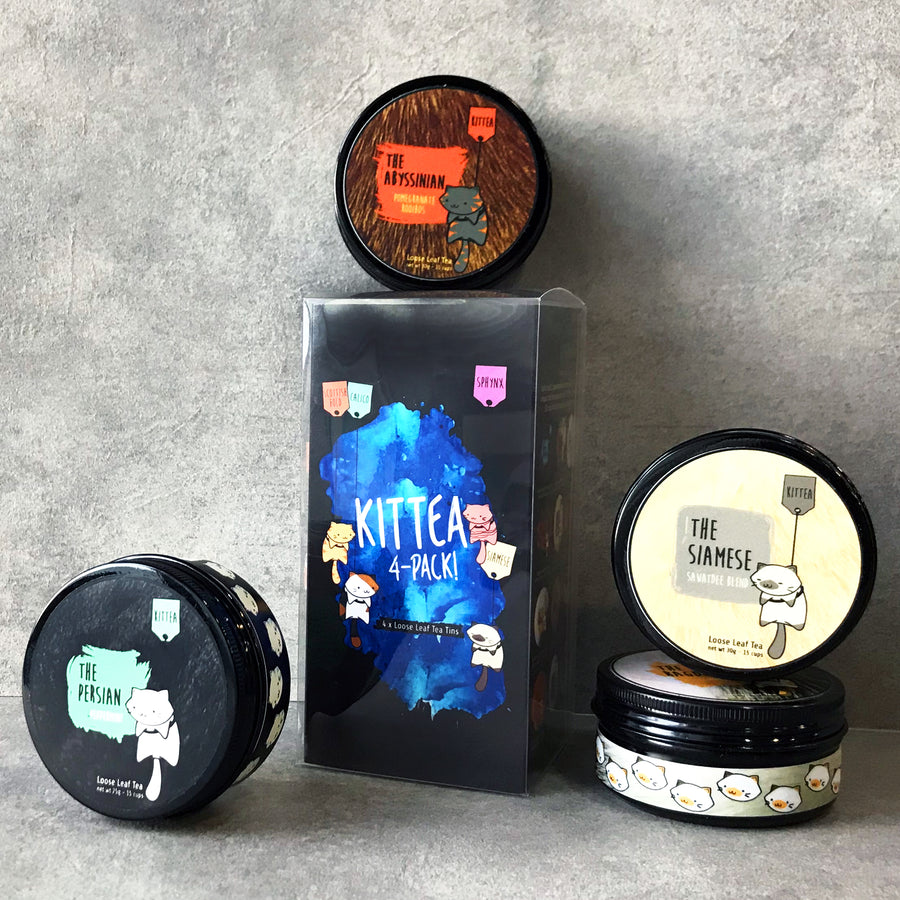 4 TEA TINS GIFT SET - Kittea