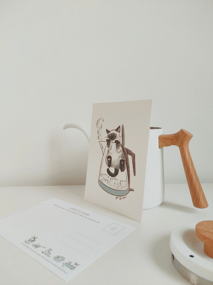 Kittea x Kino the Kitchen Cat: Postcard Series