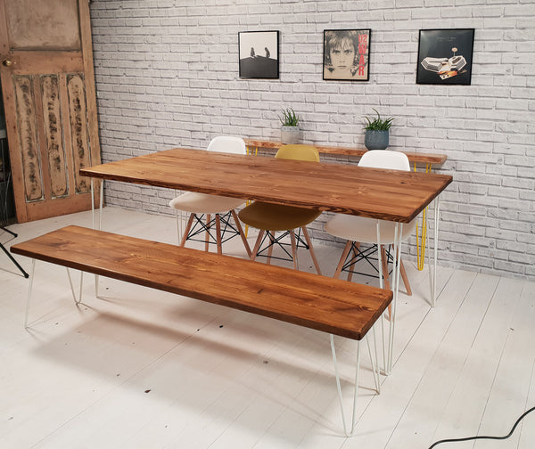 Rustic Kitchen Dining Bench Industrial Style Bench Vintage