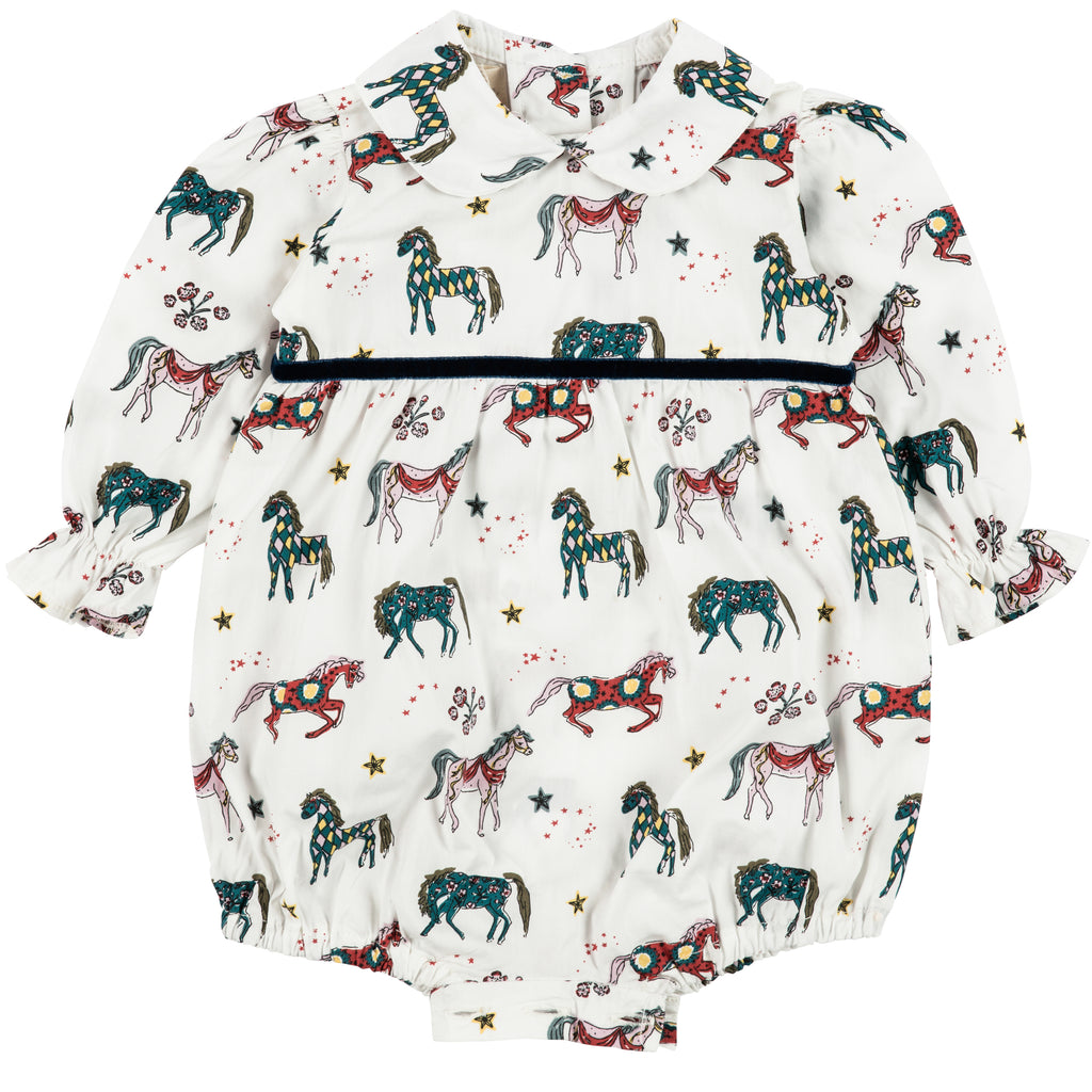 NEW White Horse Rollo Romper
