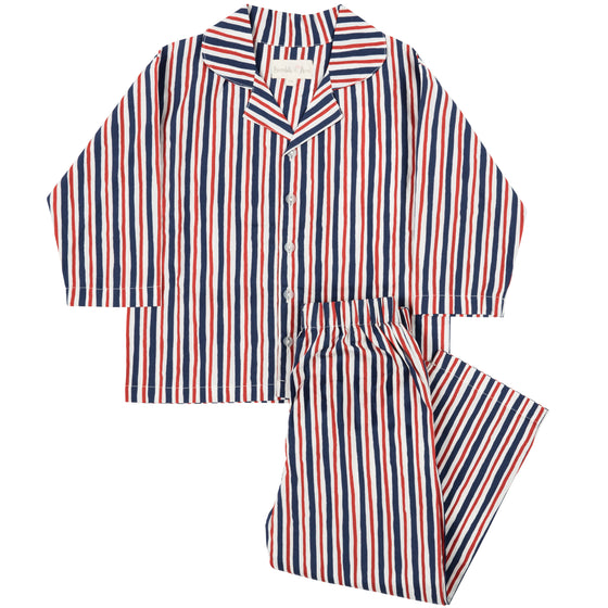 Red/Blue Striped Pyjama Set