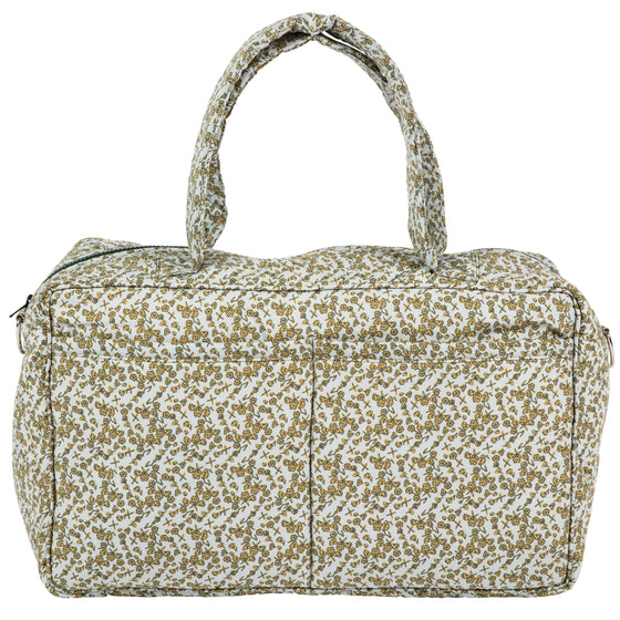 Mustard Floral 'Weekender' Overnight bag