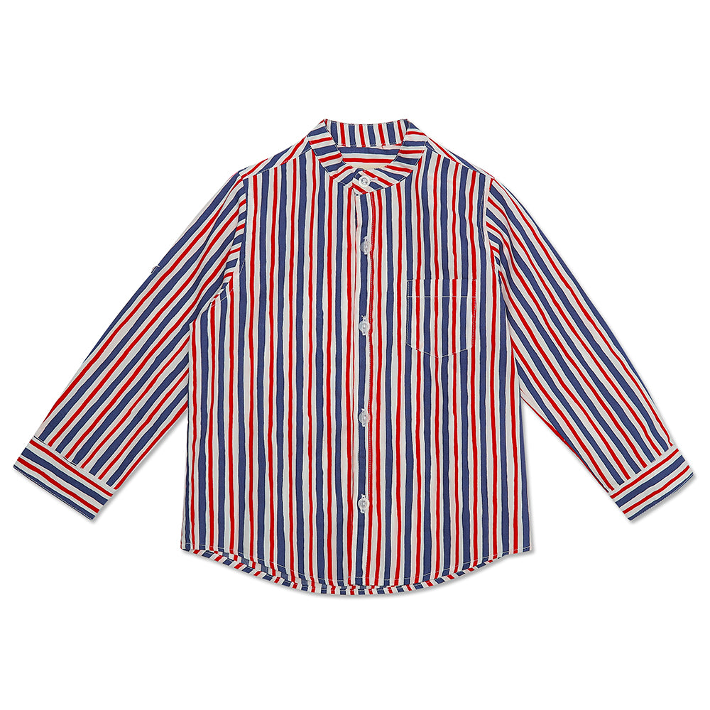 Red and Blue Striped Alfie Shirt