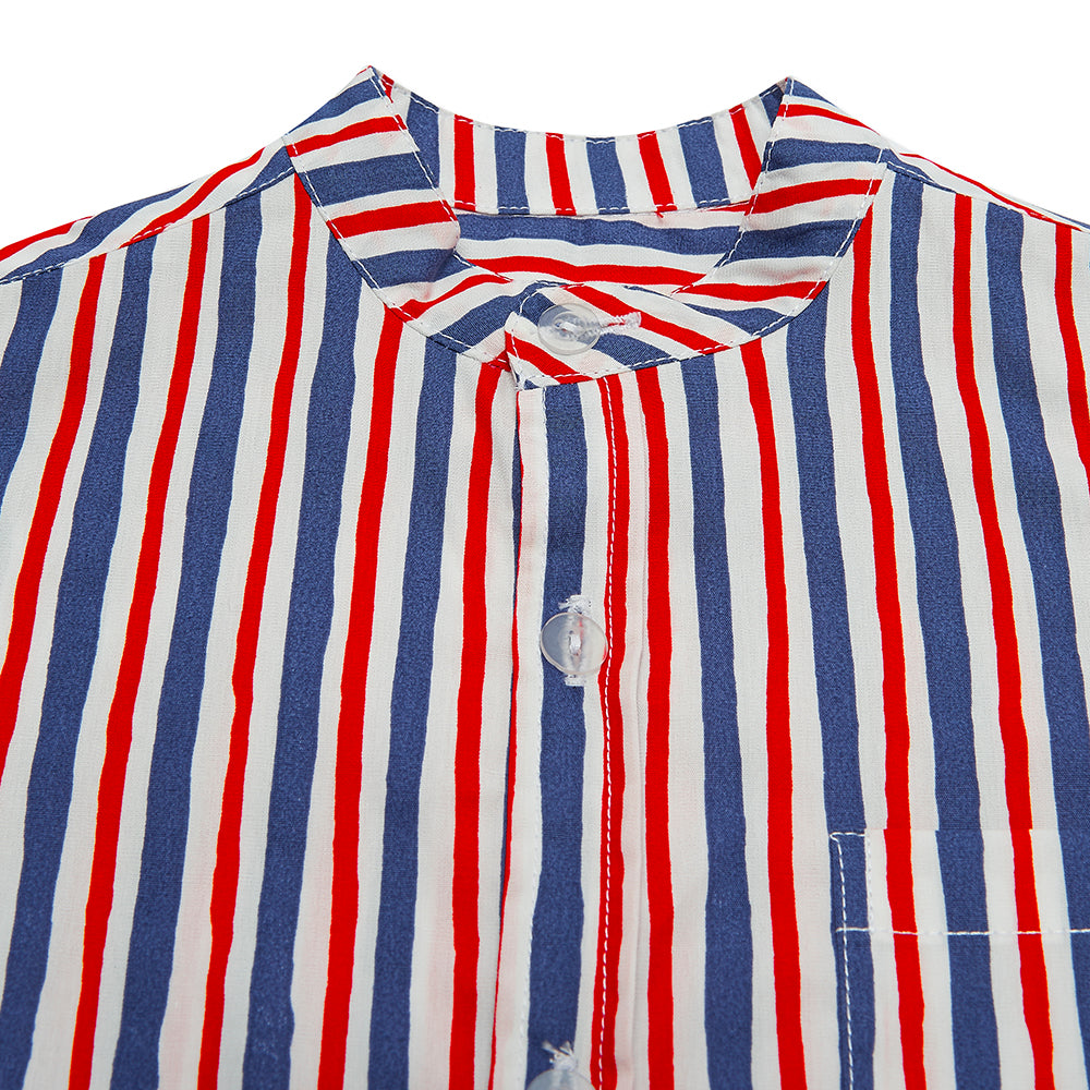 Red/Blue Striped Alfie Shirt