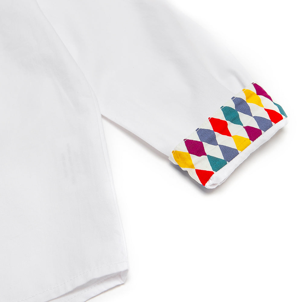 White/Harlequin Alfie Shirt