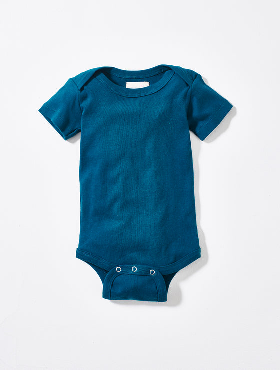 Organic cotton Teal Bodysuit