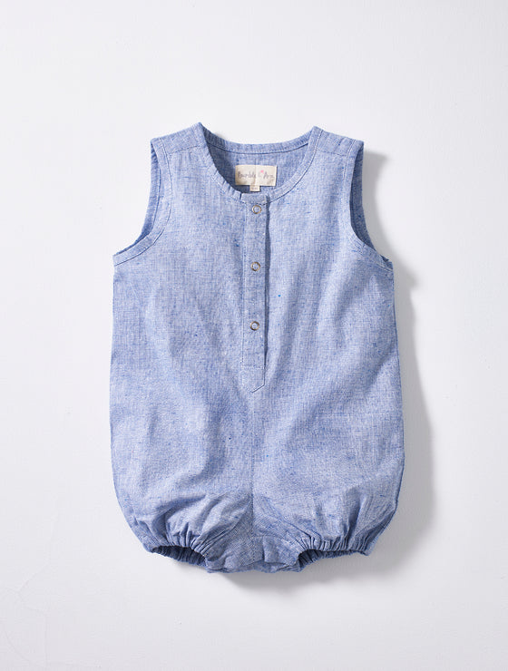 Light Blue Baby Playsuit