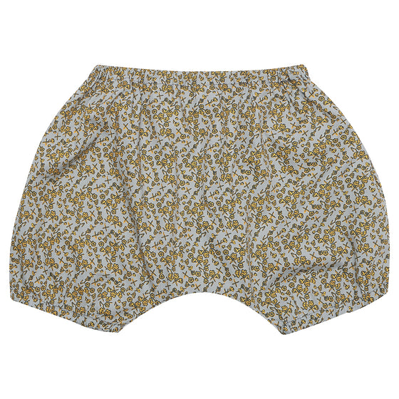 Green and Mustard Floral Bloomers
