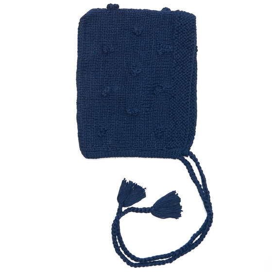 Organic Cotton Pixie Bonnet Navy