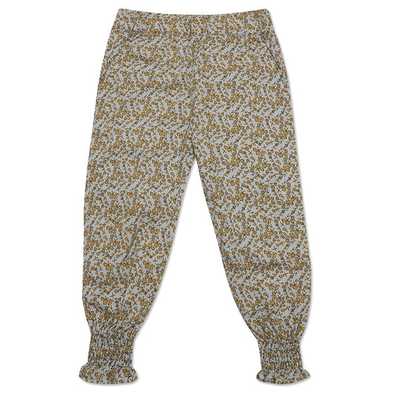 Mustard Floral Freya Trousers
