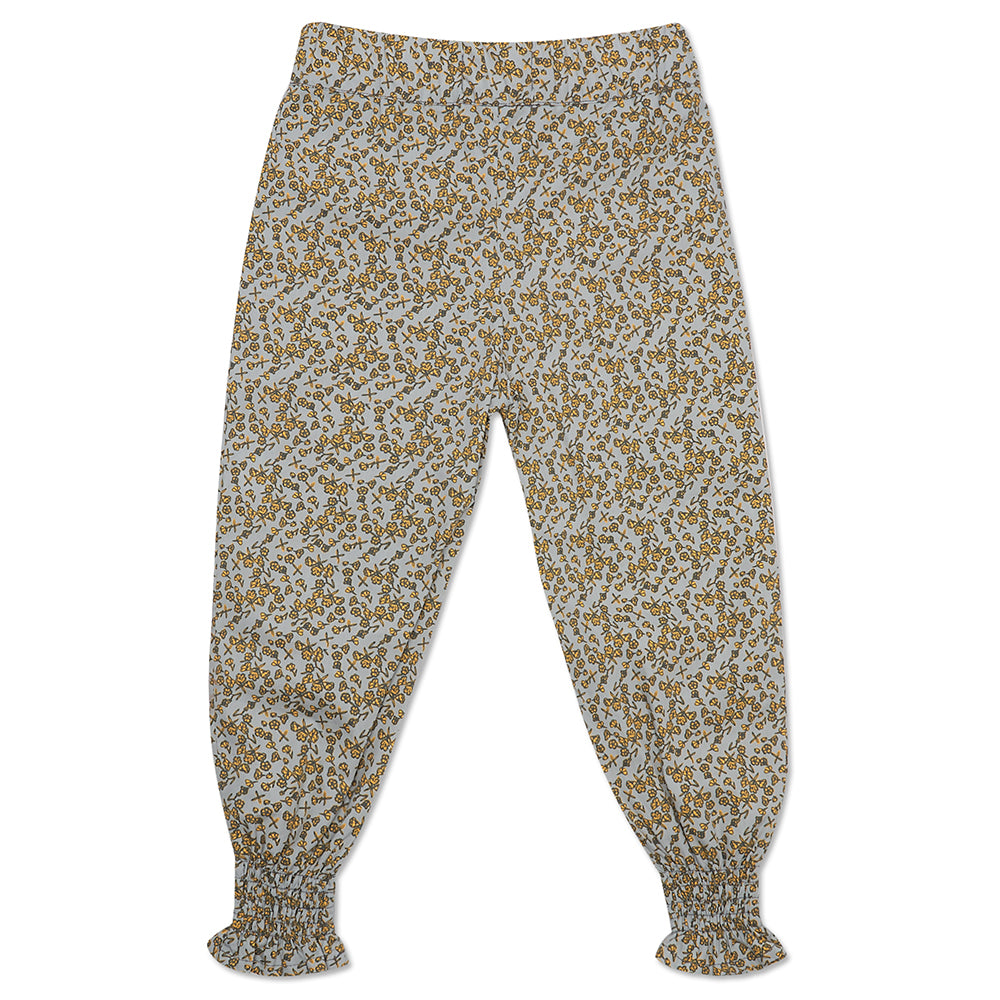 Green and Mustard Floral Joggers
