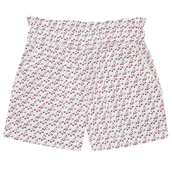 Burgundy Star Girls Summer Shorts