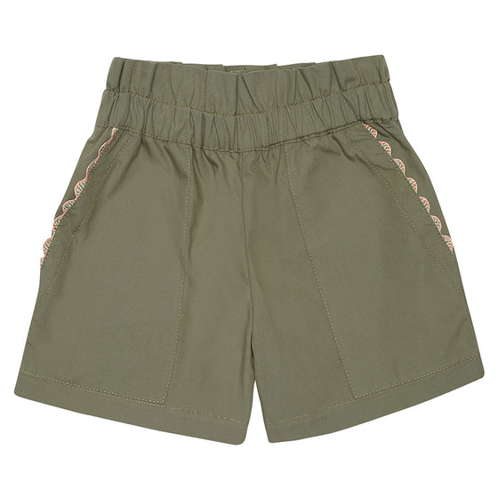 Khaki Girls Summer Shorts