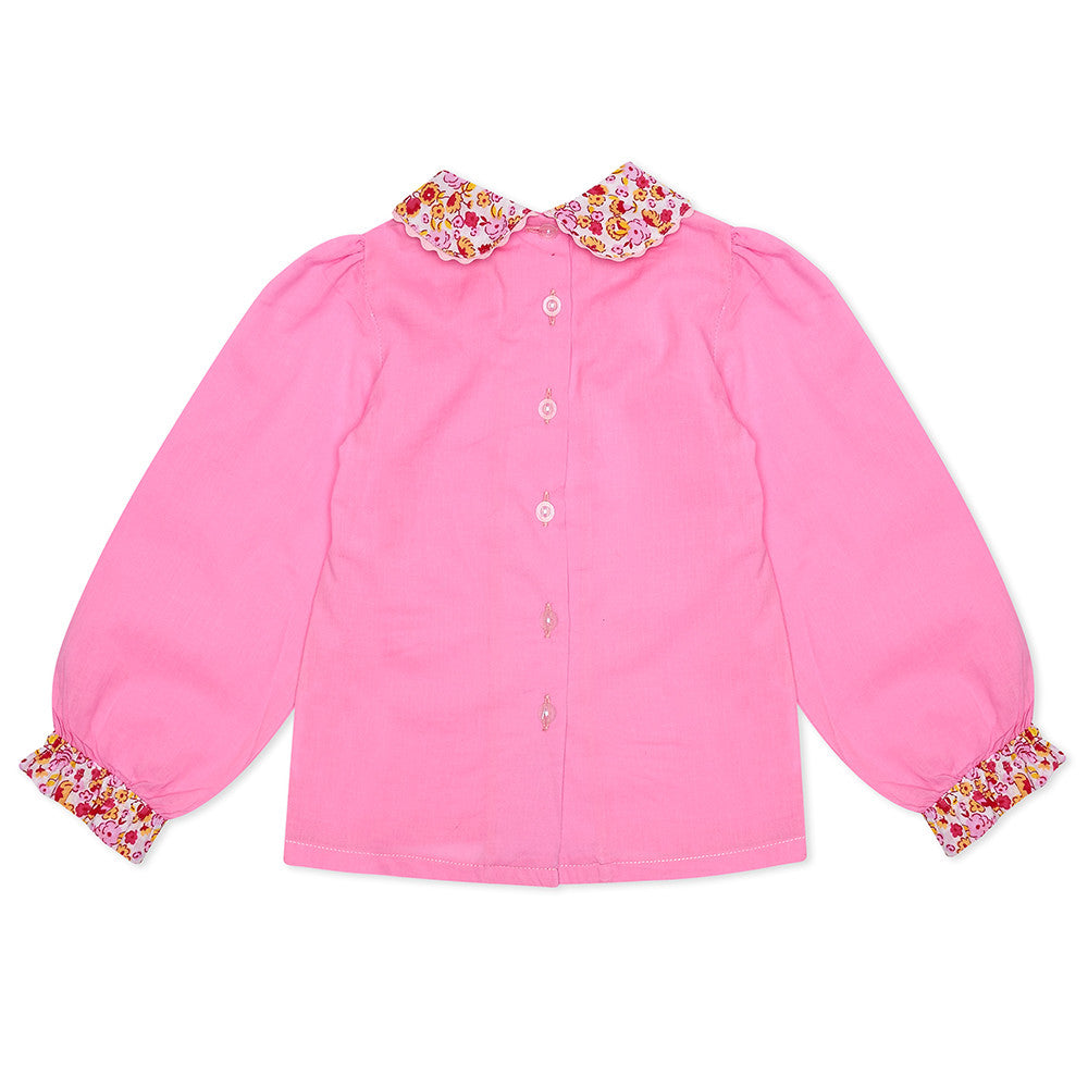 Pink Long Sleeve Lillie Blouse