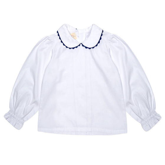 White Long Sleeve Lillie Blouse