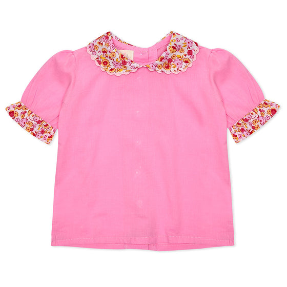 Pink short sleeve Lillie Blouse