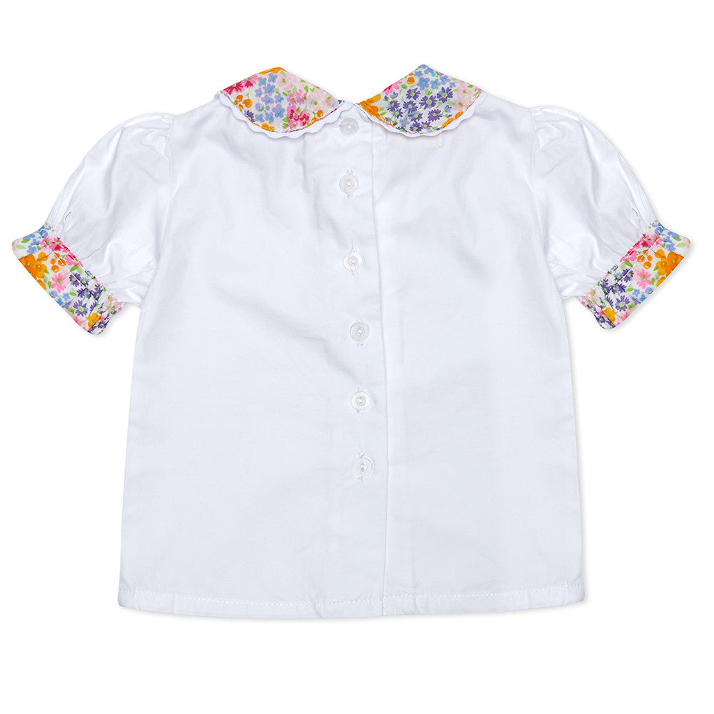 White short sleeve Lillie Blouse