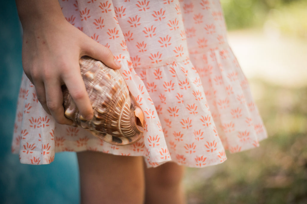 Coral Short Sleeve Ava Dress