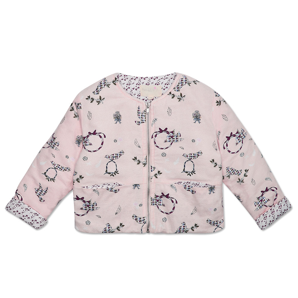 Pink Doves Girls Padded Jacket