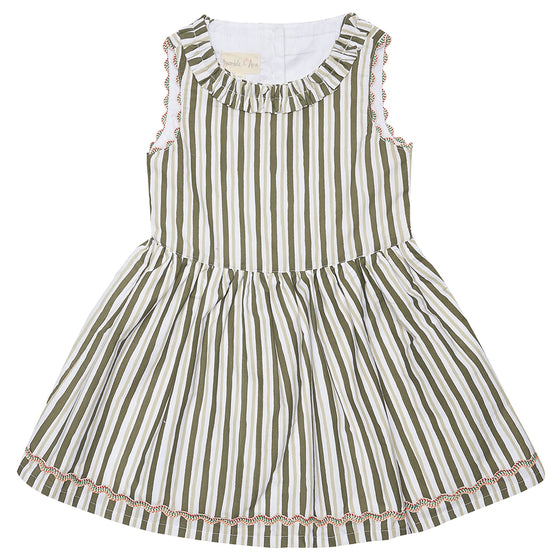 Green Stripe Nancy Dress
