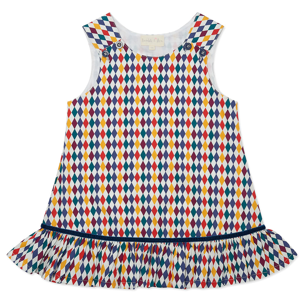 Harlequin Poppy Pinafore