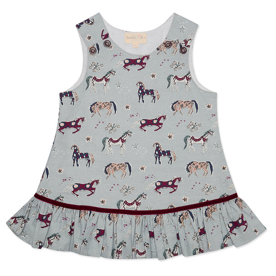 BACK IN STOCK Grey Horse Poppy Pinafore