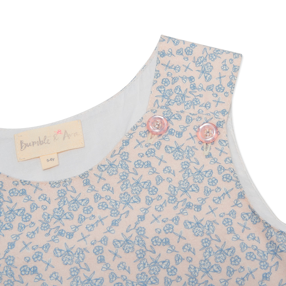 Pink Floral Poppy Pinafore