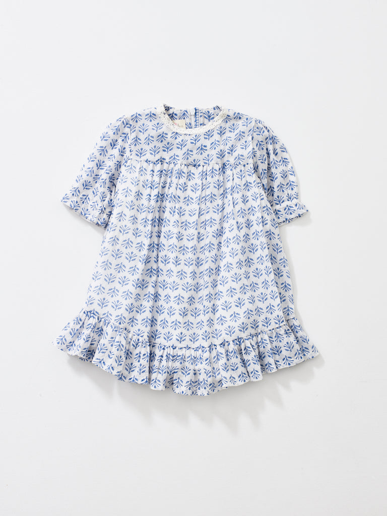 Sky Blue Short Sleeve Ava Dress