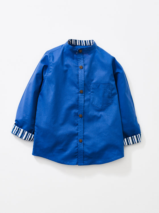 Sea Blue Boys Alfie Shirt