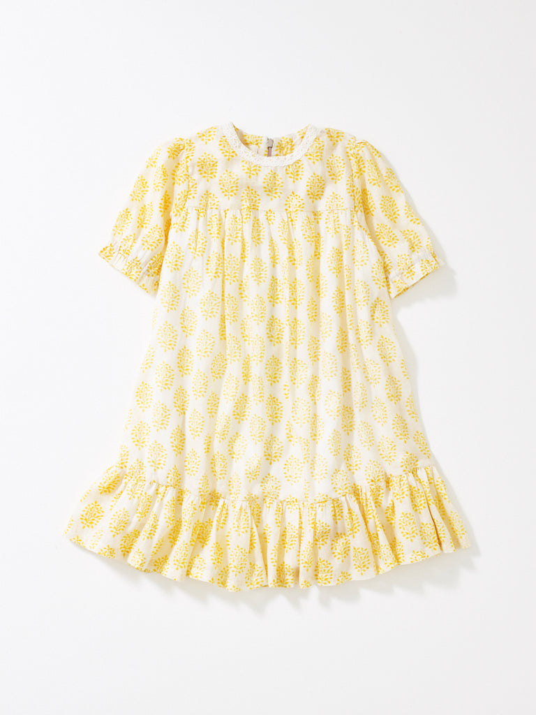 Yellow Short Sleeve Ava Dress