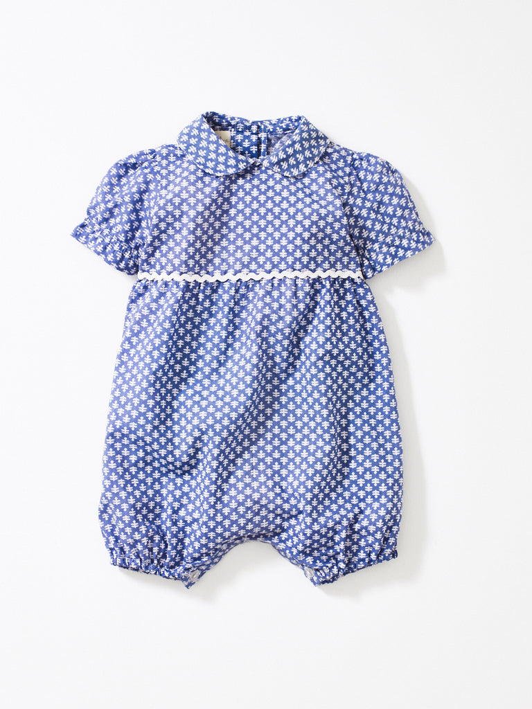 Grey / Blue Rollo Romper