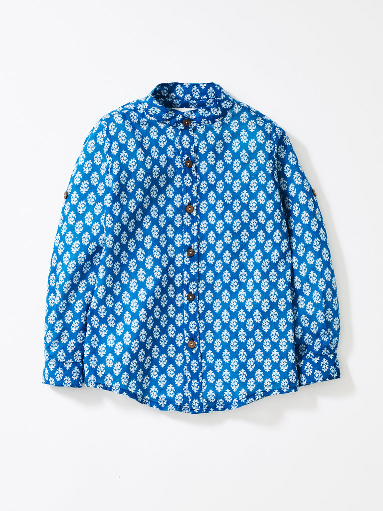 Marine Teal Boys Alfie Shirt