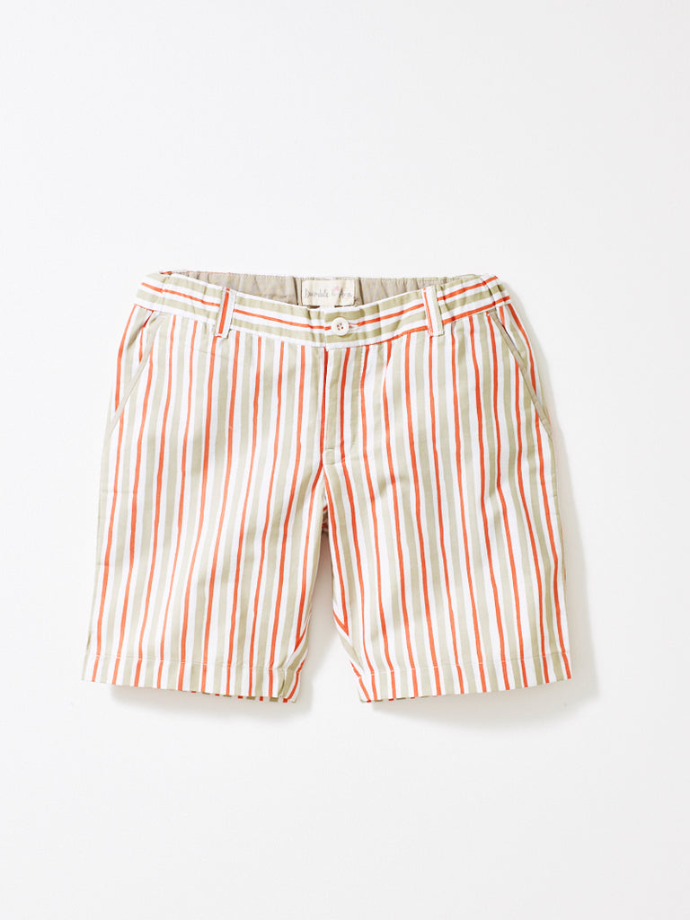 Coral Stripe Boys Shorts