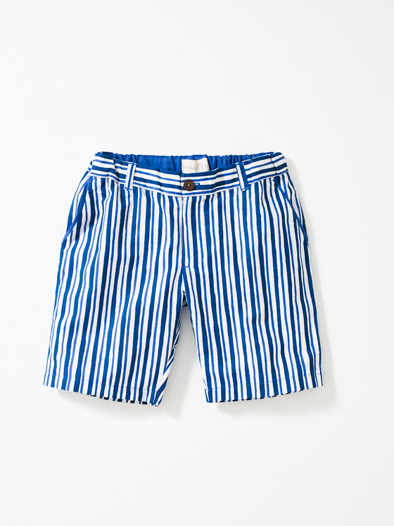 Teal Stripe Boys Shorts