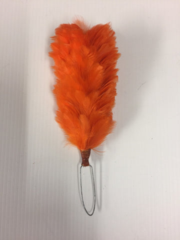 Orange feather Plume 4""