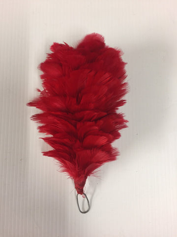 Red Feather Plume 4""
