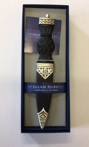 Sgian Dubh Thistle Design Antique Pewter