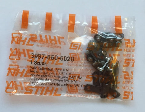 "Stihl 3997-660-6020 Saw Chain Joining Links 3/8"" PM"