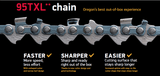 95TXL056E /  95TXL056X - Oregon Chainsaw Chain - 56 Drive Links - NewSawChains